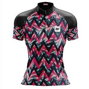 Camisa Ciclismo Mountain Bike Feminina Zig Zag