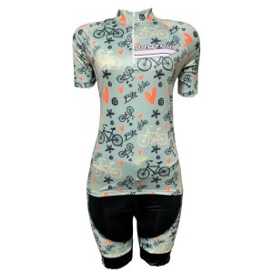 Conjunto Bermuda e Camisa Ciclismo Feminino Pro Tour Bike Peças