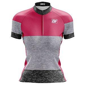 Camisa Ciclismo Mountain Bike Feminina Degrade Rosa