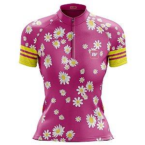 Camisa Ciclismo Mountain Bike Feminina Margaridas