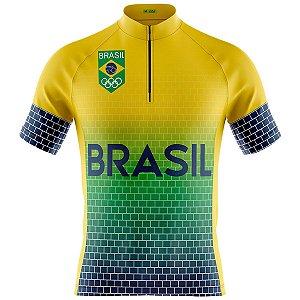 Camisa Ciclismo Mountain Bike Seleção Brasil