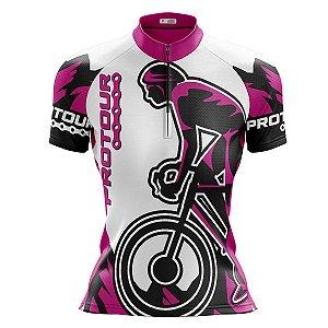 Camisa Ciclismo Mountain Bike Pro Tour Kom Rosa