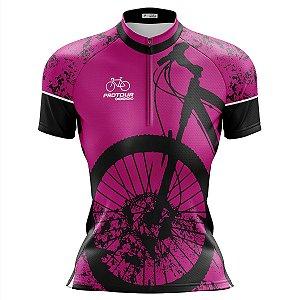 Camisa Ciclismo Mountain Bike Feminina Pro Tour Bike Rosa
