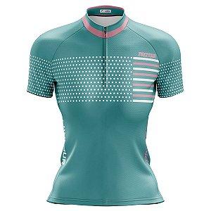 Camisa Ciclismo Mountain Bike Feminina Pro Tour Plots