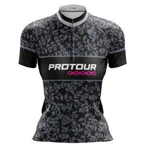 Camisa Ciclismo Mountain Bike Feminina Pro Tour Folhas