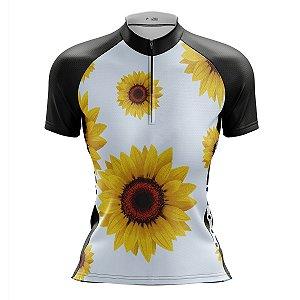 Camisa Ciclismo Mountain Bike Feminina Girassol MOD 192