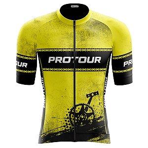 Camisa Ciclismo Pro Tour Premium Pedivela Zíper Abertura Total
