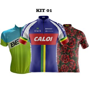 Kit 3 camisas ciclismo Masculinas manga curta