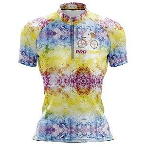 Camisa Ciclismo Mountain Bike Feminina Pro Tour Tie Day