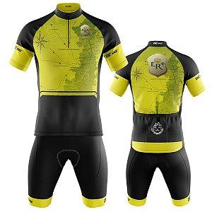 Conjunto Ciclismo Mountain Bike Bermuda e Camisa Estrada Real