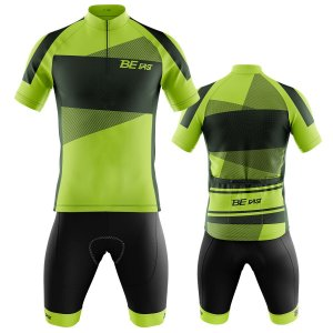 Conjunto Ciclismo Mountain Bike Bermuda e Camisa Be Fast Verde