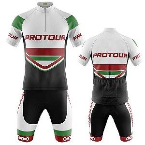 Conjunto Masculino Ciclismo Mountain Bermuda e Camisa Pro Tour Italia