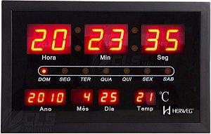 Relógio de parede herweg digital 6289