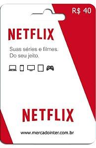 CARTÃO NETFLIX R$40