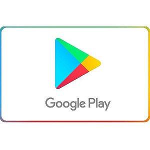 Cartão Google Play (R$10 a R$300)