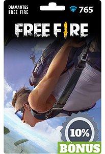 Free Fire: 765 Diamantes + 77 Bônus [Recarga]