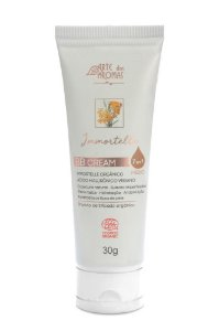 ARTE DOS AROMAS - BB Cream Immortelle com Ácido Hialurônico Certificado Orgânico Ecocert 7 em 1 - Cor Médio 30g
