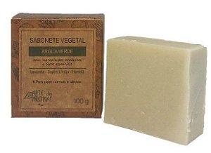 ARTE DOS AROMAS - Sabonete Barra Argila Verde 100g - Vegano - Natural