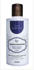 BIOZENTHI - Condicionador Matizador e Desamarelador 200ml - Natural - Vegano