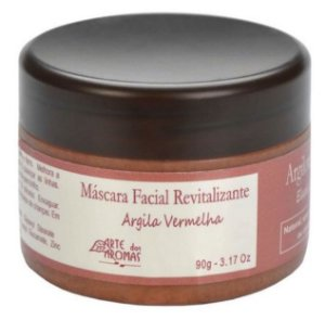 ARTE DOS AROMAS - Máscara Facial de Argila Vermelha 90g - Natural - Vegana
