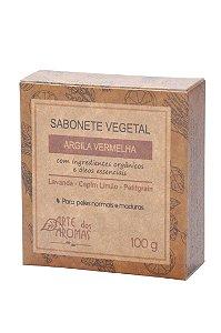 ARTE DOS AROMAS - Sabonete Barra Argila Vermelha 100g - Vegano - Natural