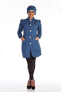 Jaleco Feminino  Azul Petróleo França