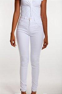 Calça  Jeans Feminina Hot Pants Branca