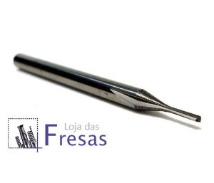 Fresa de 2 cortes retos - 1mm - Metal duro