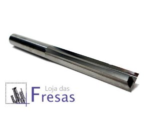Fresa de 2 cortes retos - 8mm - Metal duro