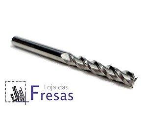 "Fresa de 3 cortes helicoidais - 3,175mm (1/8"") - Metal duro"