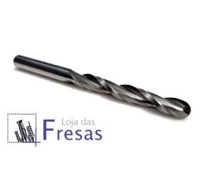 Fresa ball nose de 2 cortes helicoidais - 4mm - Metal duro
