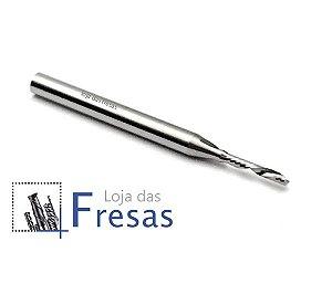 Fresa downcut 1 corte helicoidal 1,5mm - Metal duro