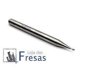 Fresa downcut 1 corte helicoidal 0,8mm - Metal duro
