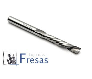 "Fresa downcut 1 corte helicoidal 3,175mm (1/8"") - Metal duro"