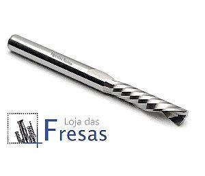 Fresa downcut 1 corte helicoidal 4,0mm - Metal duro