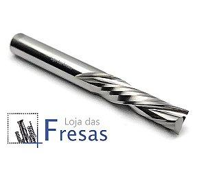 Fresa downcut 2 cortes helicoidais 6,0mm - Metal duro
