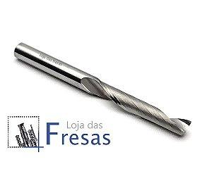 Fresa de 1 corte helicoidal p/Alumínio - HRC55 - 4,0mm - Metal duro