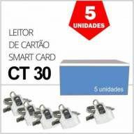 Leitor de Cartão de Certificado Digital e-CPF e-CNPJ NF-e IDBridge CT30 Gemalto Caixa 5 Unidades