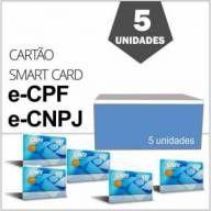 Cartão de Certificado Digital e-CPF e-CNPJ NF-e Gemalto Homologado Caixa com 5 Unidades