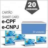 Cartão Smart Card e-CPF e-CNPJ Gemalto para Certificado Digital A3 Caixa com 20 Unidades