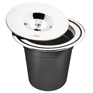 Lixeira de Embutir Tramontina em Aço Inox com Balde Plástico 5 L
