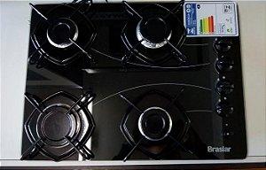 Fogão cooktop 4Q à gas Braslar