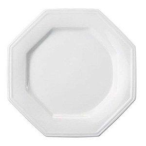 Prato raso prisma porcelana Schmidt caixa c/12 pçs