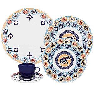 Jogo de Jantar e Chá 30 Peças Shanti Oxford