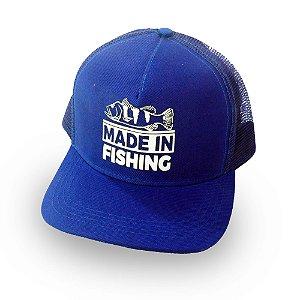 Boné Tradicional Made in Fishing ® - Original - Azul