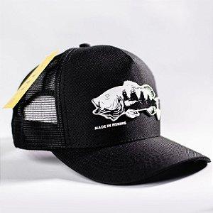 Boné Tucuna Black Edition Made in Fishing ® - Original - Preto