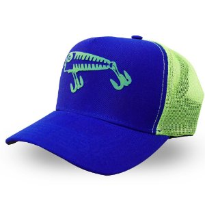 Boné Isca Artificial - Made in Fishing ® - Original - Azul e Verde