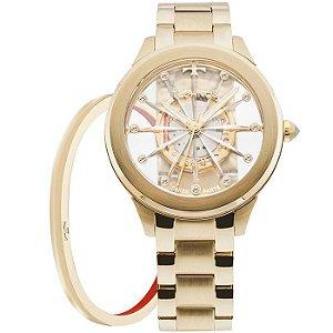630445e4156 Relógio Technos Feminino Essence Suiço F03101aa k4w Dourado