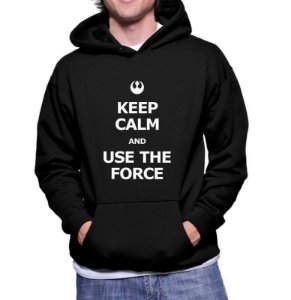 Moletom Masculino - Star Wars Keep Calm and Use the Force