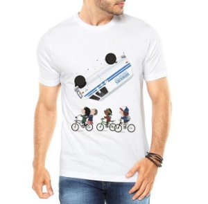 Camiseta Masculina - Stranger Things Bicicleta Onze Dustin Mike